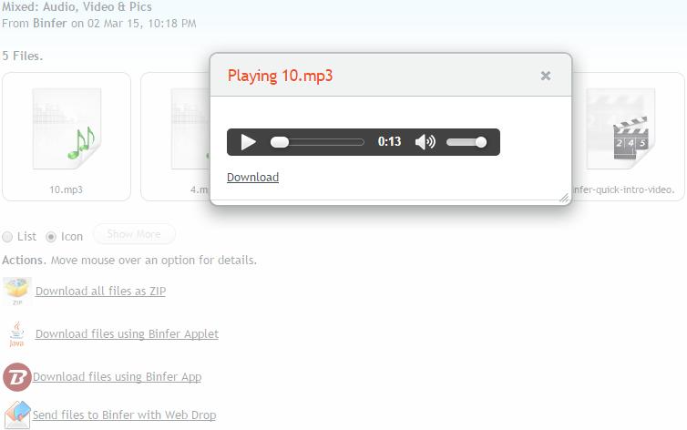 binfer-receive-files-html5-media-play-music